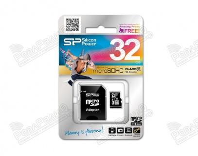 Карта памяти Silicon Power (MicroSDHC) 32 Gb class 10